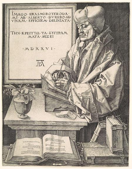 Erasmus of Rotterdam, 1526, by Albrecht Durer